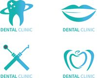 Ejemplo dental del vector de los logotipos del sistema de la clínica ilustración del vector