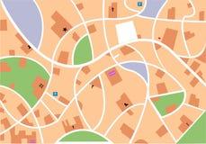 Mapa de la ciudad Imagenes de archivo