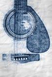 Ejemplo detallado del ejemplo de la guitarra acústica fotografía de archivo