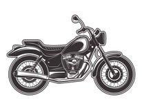 Ejemplo detallado monocromático del vector de la motocicleta libre illustration