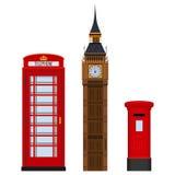 Ejemplo determinado de visita turístico de excursión tradicional del vector de Londres aislado en blanco libre illustration