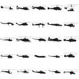 Ejemplo determinado del helicóptero Vector Icono negro en blanco ilustración del vector