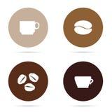 Ejemplo determinado del icono del café Fotografía de archivo