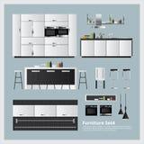 Ejemplo determinado del vector de los muebles y de la decoración casera Fotografía de archivo libre de regalías