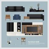 Ejemplo determinado del vector de los muebles y de la decoración casera Fotografía de archivo