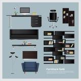 Ejemplo determinado del vector de los muebles y de la decoración casera Imagenes de archivo