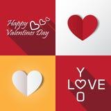 Ejemplo determinado del vector del icono de la tarjeta del día de San Valentín del corazón Foto de archivo