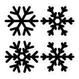 Ejemplo determinado del vector del icono de los copos de nieve Rebecca 36 Imágenes de archivo libres de regalías