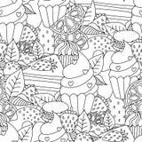 Ejemplo dibujado del vector de la página de las ilustraciones del esquema de la mano de libro de colorear stock de ilustración