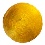 Ejemplo dibujado mano brillante redonda de la trama de la mancha de la pintura de la hoja de oro Fotos de archivo libres de regalías