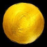 Ejemplo dibujado mano brillante redonda de la trama de la mancha de la pintura de la hoja de oro Fotografía de archivo libre de regalías
