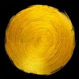 Ejemplo dibujado mano brillante redonda de la trama de la mancha de la pintura de la hoja de oro Imágenes de archivo libres de regalías