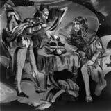 Ejemplo dibujado mano de Faust An, bosquejando a pulso ilustración del vector