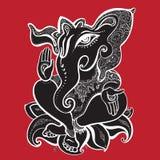 Ejemplo dibujado mano de Ganesha Fotografía de archivo libre de regalías