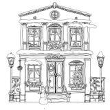 Ejemplo dibujado mano de la acción del vector de la casa libre illustration