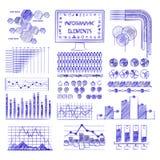 Ejemplo dibujado mano de los gráficos de la información de vector. Imágenes de archivo libres de regalías