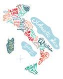 Ejemplo dibujado mano del mapa de Italia libre illustration