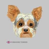 Ejemplo dibujado mano del perro Foto de archivo libre de regalías