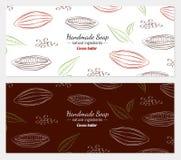 Ejemplo dibujado mano del vector del cacao Foto de archivo