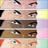 Ojos cómicos Fotos de archivo