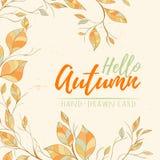 Ejemplo dibujado mano del vector del otoño Fotos de archivo libres de regalías