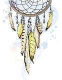 Ejemplo dibujado mano ideal de la acuarela del bosquejo del colector stock de ilustración