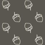 Ejemplo dibujado mano inconsútil Nuts Imagenes de archivo