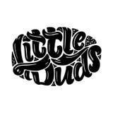 Ejemplo dibujado mano original con las letras para el diseño y las impresiones del logotipo de la tienda de los niños Ilustración Fotografía de archivo libre de regalías