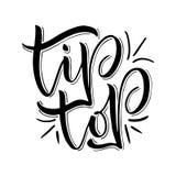 Ejemplo dibujado mano original con las letras para el diseño y las impresiones del logotipo de la tienda de los niños Ilustración Fotografía de archivo