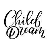 Ejemplo dibujado mano original con las letras para el diseño y las impresiones del logotipo de la tienda de los niños Ilustración Fotos de archivo libres de regalías