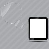Ejemplo digital abstracto del vector de la tablilla ilustración del vector