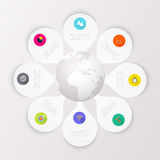 Ejemplo digital abstracto Infographic stock de ilustración