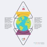 Ejemplo digital del globo abstracto para Infographic puede ser utilizado libre illustration