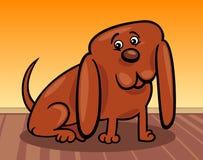 Ejemplo divertido de la historieta del peque?o perro Foto de archivo libre de regalías