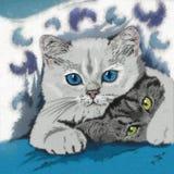 Ejemplo divertido de los gatitos Foto de archivo libre de regalías