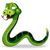 Ejemplo divertido del vector del personaje de dibujos animados de la serpiente ilustración del vector