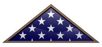Ejemplo doblado estilo militar del vector de la bandera americana del veterano stock de ilustración