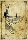 Ejemplo egipcio del faraón de ISIS stock de ilustración
