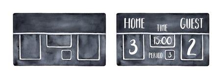 Ejemplo electrónico negro del marcador para adornar los acontecimientos deportivos ilustración del vector