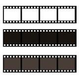Ejemplo en blanco de la acción del marco de película Imagen del vector del marco stock de ilustración