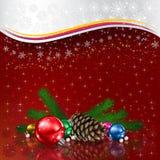 Ejemplo en 3D de la tarjeta de Navidad Fotografía de archivo libre de regalías