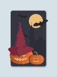 Ejemplo en el tema de la invitación de Halloween Foto de archivo