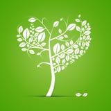 Ejemplo en forma de corazón abstracto del árbol Imagen de archivo
