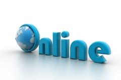 Ejemplo en línea con el globo. Imagen de archivo libre de regalías