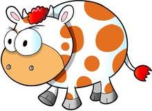 Ejemplo enojado enojado del vector de la vaca stock de ilustración