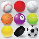 Ejemplo EPS 8 del vector de las bolas del deporte Fotografía de archivo libre de regalías