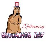 Ejemplo EPS 10 del vector del día de la marmota Fotografía de archivo