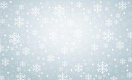 Ejemplo eps10 del vector del fondo de la bandera del invierno del copo de nieve libre illustration
