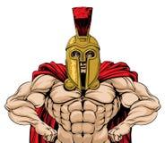 Ejemplo espartano del soldado stock de ilustración
