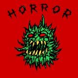 Ejemplo espinoso verde enojado del vector del fantasma ilustración del vector